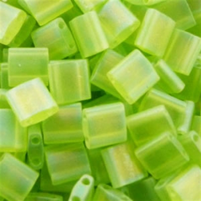 Picture of Miyuki Tila Beads | TL-0143FR (E) Matte Transparent Lime Green AB (5 g.)
