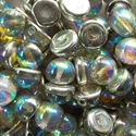 Picture of 10mm Czech Dome Beads | DM10-00030/98530  Crystal Silver Rainbow  (10 pcs.)