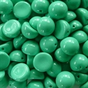 Picture of 10mm Czech Dome Beads | DM10-48655 Fiesta Turquoise Blue (10 pcs.)