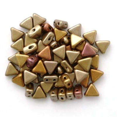 Picture of Kheops par Puca Beads   KP-00030/01610  Silky Gold Rainbow (9 g.)