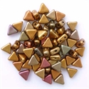 Picture of Kheops par Puca Beads | KP-00030/01620  Silky Ancient Gold Rainbow (9 g.)