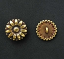 Picture of Button Clasp | #CL-101-AB - Sunflower - 17mm Antique Brass (1 pc.)