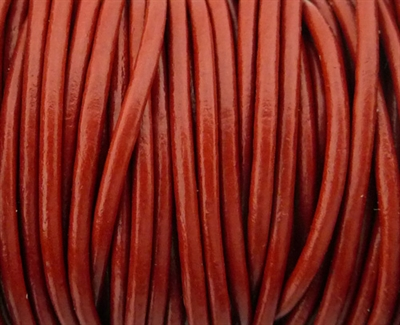 Picture of Leather Cord | #LC19 - 1.5mm Brick (1 ft.)
