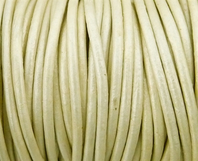Picture of Leather Cord | #LC41 - 1.5mm Metallic Pearl (1 ft.)