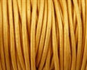 Picture of Leather Cord | #LC42 - 1.5mm Metallic Bright Gold (1 ft.)
