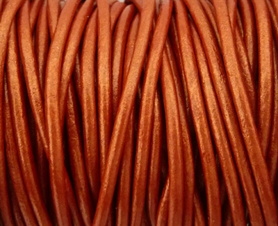 Picture of Leather Cord | #LC43 - 1.5mm Metallic Copper (1 ft.)