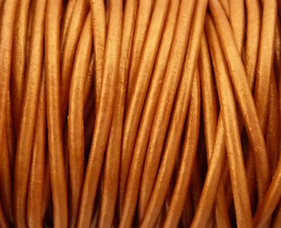 Picture of Leather Cord | #LC44 - 1.5mm Metallic Copper Bronze (1 ft.)