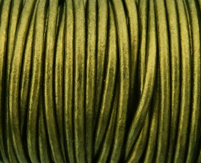 Picture of Leather Cord | #LC45 - 1.5mm Metallic Gauriya (1 ft.)