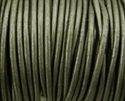 Picture of Leather Cord | #LC47 - 1.5mm Metallic Grey (1 ft.)