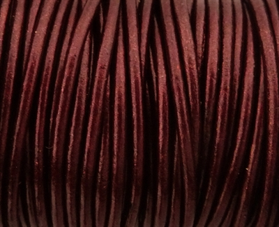 Picture of Leather Cord | #LC50 - 1.5mm Metallic Maroon (1 ft.)