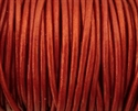 Picture of Leather Cord | #LC57 - 1.5mm Metallic Moroccan Red (1 ft.)