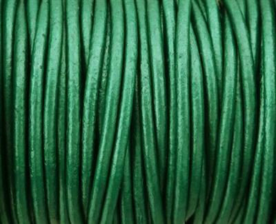 Picture of Leather Cord | #LC58 - 1.5mm Metallic Truly Teal (1 ft.)