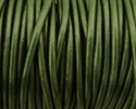 Picture of Leather Cord | #LC66 - 1.5mm Metallic Deep Sea Green (1 ft.)