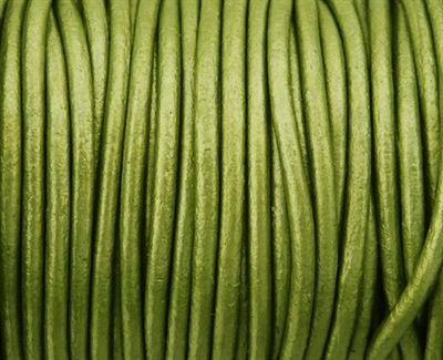 Picture of Leather Cord | #LC67 - 1.5mm Metallic Fern Green (1 ft.)