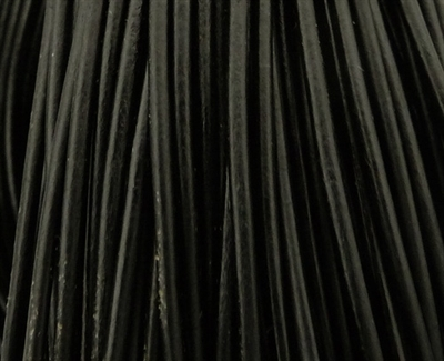 Picture of Leather Cord | #LC02 - 1.5mm Black (1 ft.)