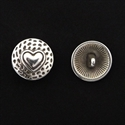 Picture of Button Clasp | #CL-108-AS - Heart - 17mm Antique Silver (1 pc.)