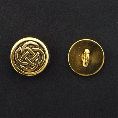 Picture of Button Clasp | #CL-110-AG - Celtic - 16mm Antique Gold (1 pc.)