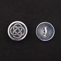 Picture of Button Clasp | #CL-110-AS - Celtic - 16mm Antique Silver (1 pc.)