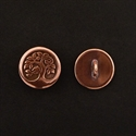 Picture of Button Clasp | #CL-113-CP - Bird In A Tree - 16mm Copper Plate (1 pc.)