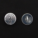 Picture of Button Clasp | #CL-112-SP - Tree Of Life - 16mm Silver Plate