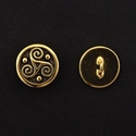 Picture of Button Clasp | #CL-111-AG - Triskele - 16mm Antique Gold