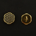 Picture of Button Clasp | #CL-109-AG - Patchwork Flower - 16mm Antique Gold (1 pc.)