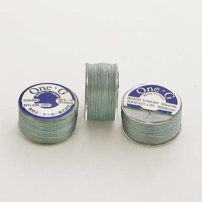 Picture of ONE-G Beading Thread   #OG-03 - Grey (50 yds)