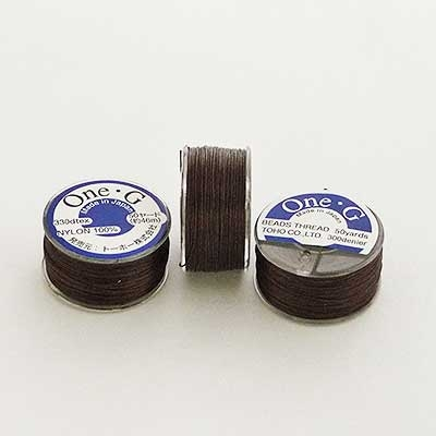 Picture of ONE-G Beading Thread | #OG-07 - Brown (50 yds)