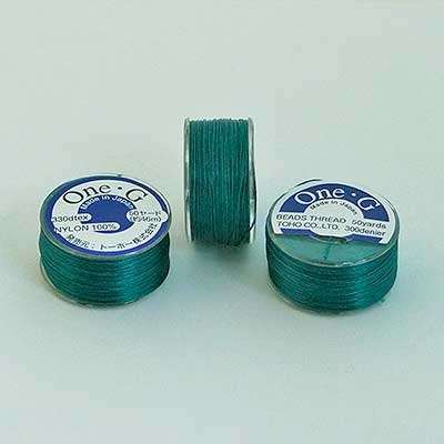 Picture of ONE-G Beading Thread | #OG-22 - Deep Green (50 yds)