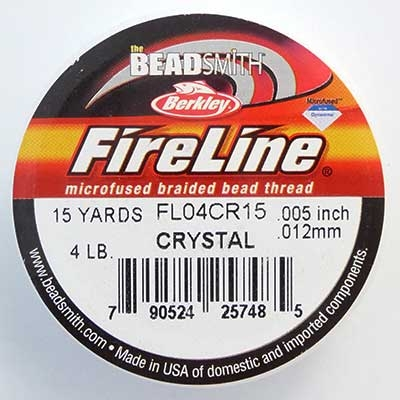 Picture of Beading Thread | FireLine - 02-Crystal Clear - 4 lb. (15 yds.)