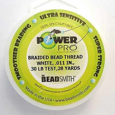 Picture of Beading Thread | Power Pro - 08-White - 30 lb. Test (28 yds.)