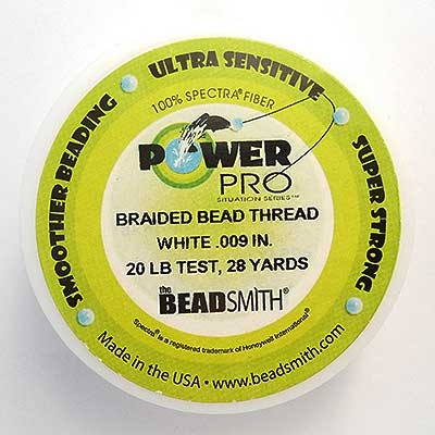 Picture of Beading Thread | Power Pro - 07-White - 20 lb. Test (28 yds.)