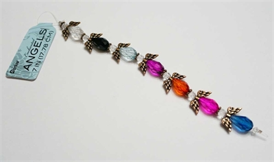 Picture of Seasonal Beads | Crystal/Glass ANGEL BEADS - 1 Strand