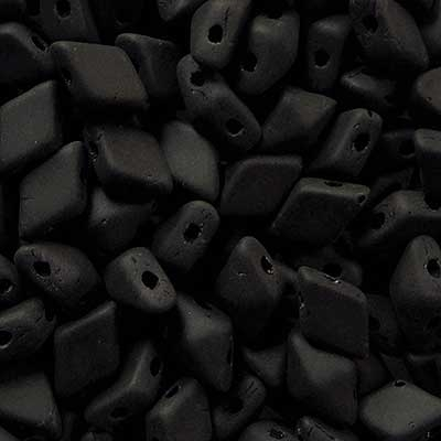 Picture of Czech Diamonduo 2-Hole Beads | DD-23980/84110  Matte Jet Black  (5 g.)
