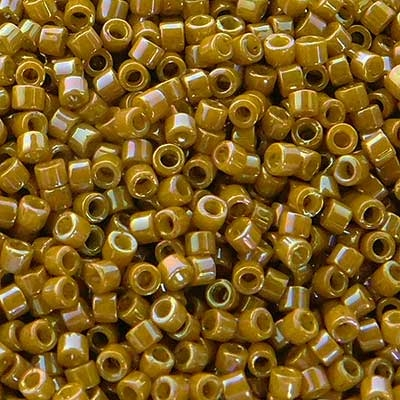 Picture of Miyuki Delica Seed Beads | 11/0 - DB-2272 (G2) Opaque Glazed Honey Mustard (5 g.)