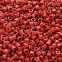 Picture of Miyuki Delica Seed Beads | 11/0 - DB-2306 (K) Frosted Opaque Glazed Brick Red AB (5 g.)