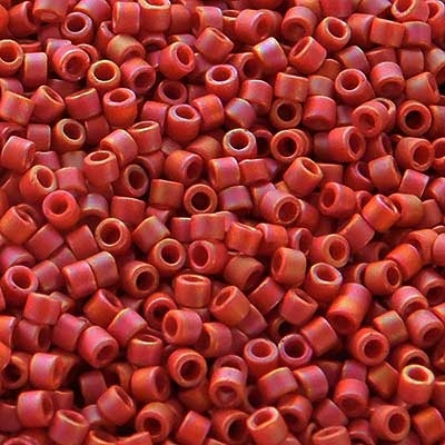 Picture of Miyuki Delica Seed Beads | 11/0 - DB-2306 (I2) Frosted Opaque Glazed Brick Red AB (5 g.)