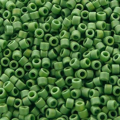 Picture of Miyuki Delica Seed Beads | 11/0 - DB-2312 (I2) Frosted Opaque Glazed Cucumber AB (5 g.)