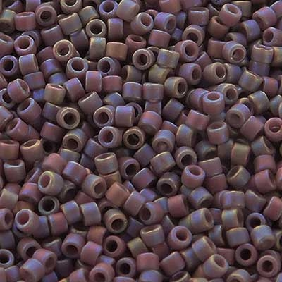 Picture of Miyuki Delica Seed Beads | 11/0 - DB-2322 (K) Frosted Opaque Glazed Amethyst Taupe AB (5 g.)