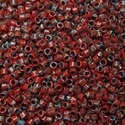 Picture of Miyuki Delica Seed Beads | 11/0 - DB-2263 (G3) Opaque Dk. Red Picasso (5 g.)