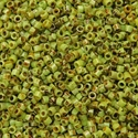Picture of Miyuki Delica Seed Beads | 11/0 - DB-2265 (G3) Opaque Chartreuse Picasso (5 g.)