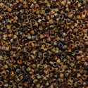 Picture of Miyuki Delica Seed Beads | 11/0 - DB-2267 (G3) Opaque Tortoise Brown Picasso (5 g.)