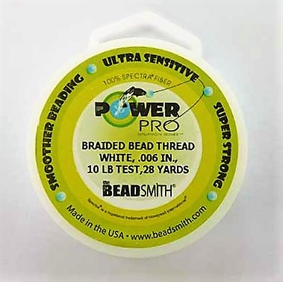 Picture of Beading Thread | Power Pro - 06-White - 10 lb. Test (28 yds.)