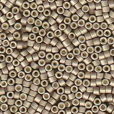 Picture of Miyuki Delica Seed Beads | 11/0 - DB-1168 (R) Matte Galvanized Smoky Beige  (5 g.)
