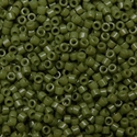 Picture of Miyuki Delica Seed Beads | 11/0 - DB-2357 (H2) DURACOAT Opaque Dk. Olive (5 g.)