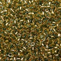 Picture of Miyuki Delica Seed Beads | 11/0 - DB-2522 (PM4) 24KT Gold-Lined Lt. Aqua (2.5g)