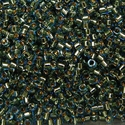 Picture of Miyuki Delica Seed Beads | 11/0 - DB-2523 (PM4) 24KT Gold-Lined Lt. Blue (2.5g)