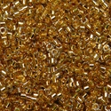 Picture of Miyuki Delica Seed Beads | 11/0 - DB-2525 (PM4) 24KT Gold-Lined Lt. Grey (2.5g)